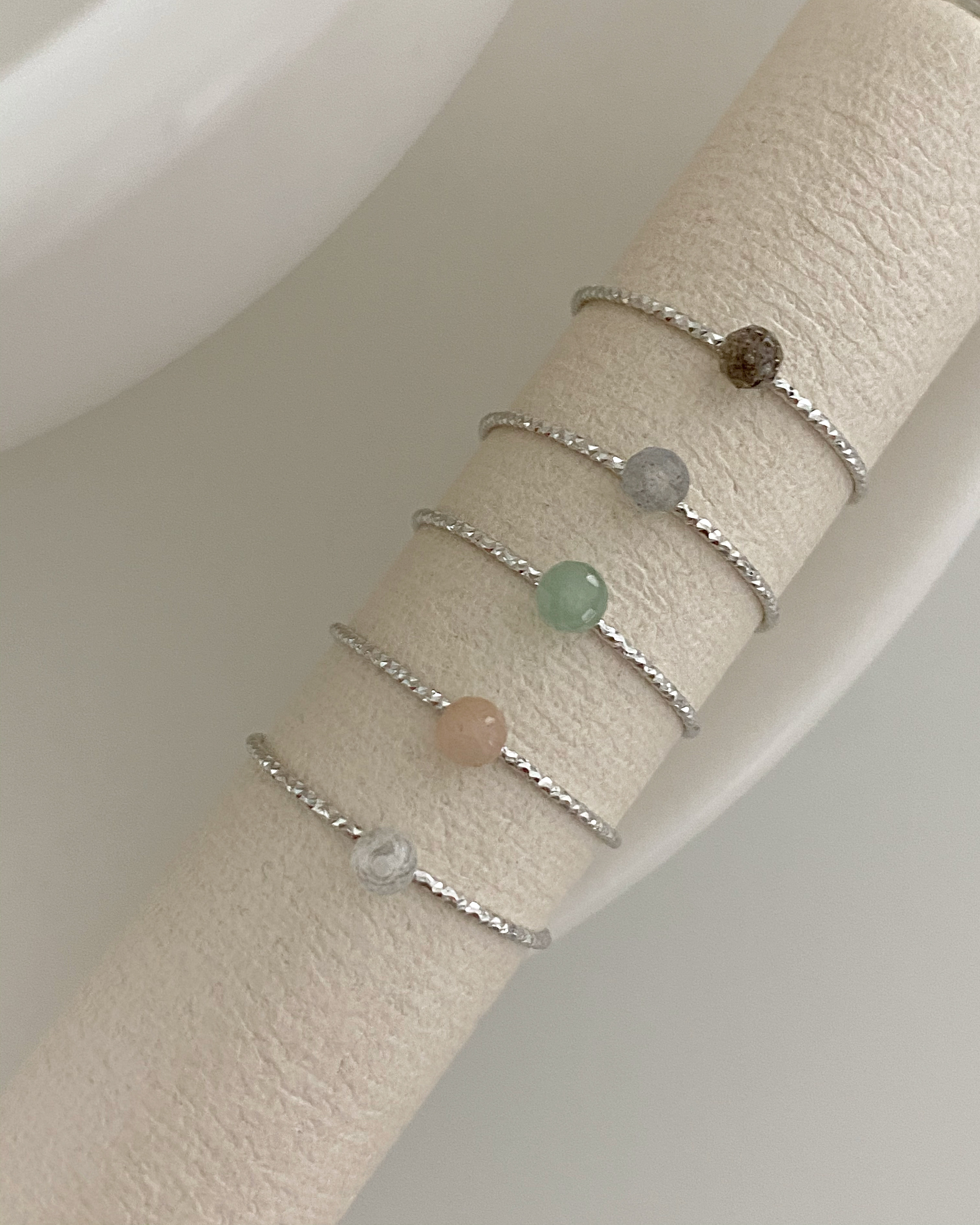 [92.5 silver] italy gemstone ring (5 color)