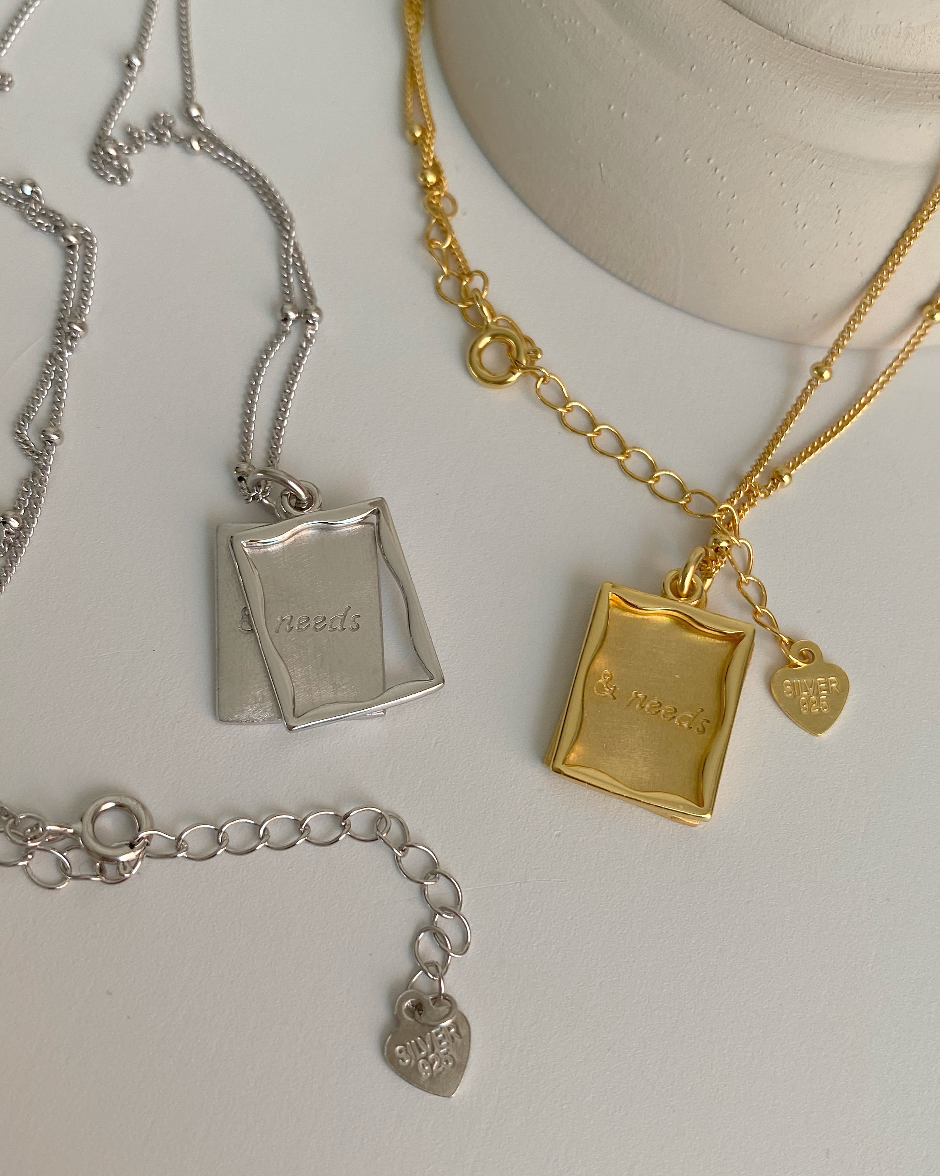 [92.5 silver] need square necklace (2 color)